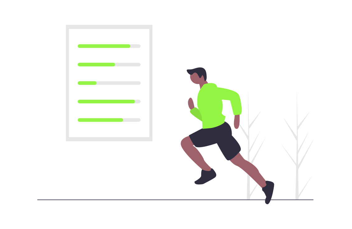 Create a plan for running to keep up with your progress